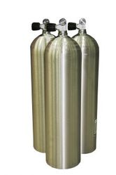 Баллон для дайвинга BTS алюминиевый S 80 (11.1 л) 207 Bar, моно вентиль O2 Clean, серебристый